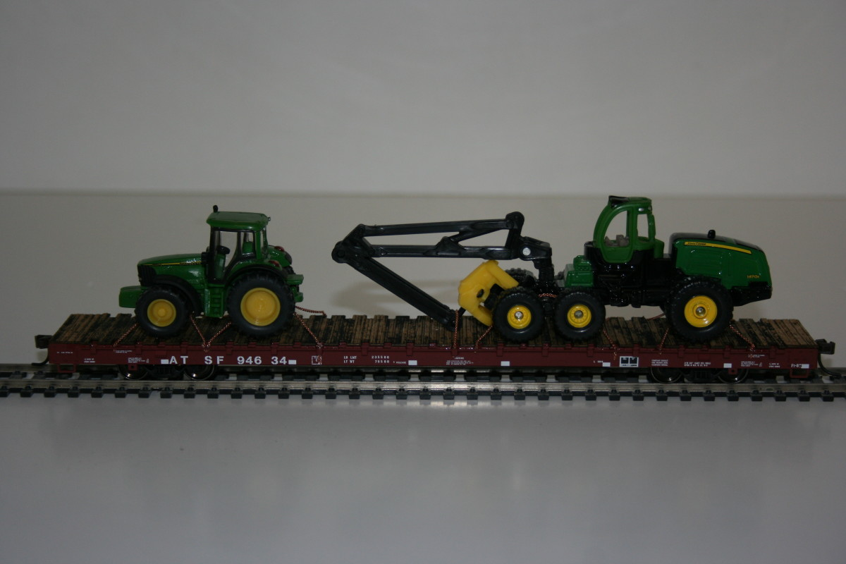 Harvester and tractor